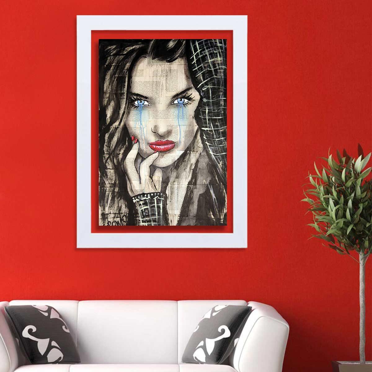 تابلو گالری استاربوی طرح پرتره دختر مدل هنری HL264
