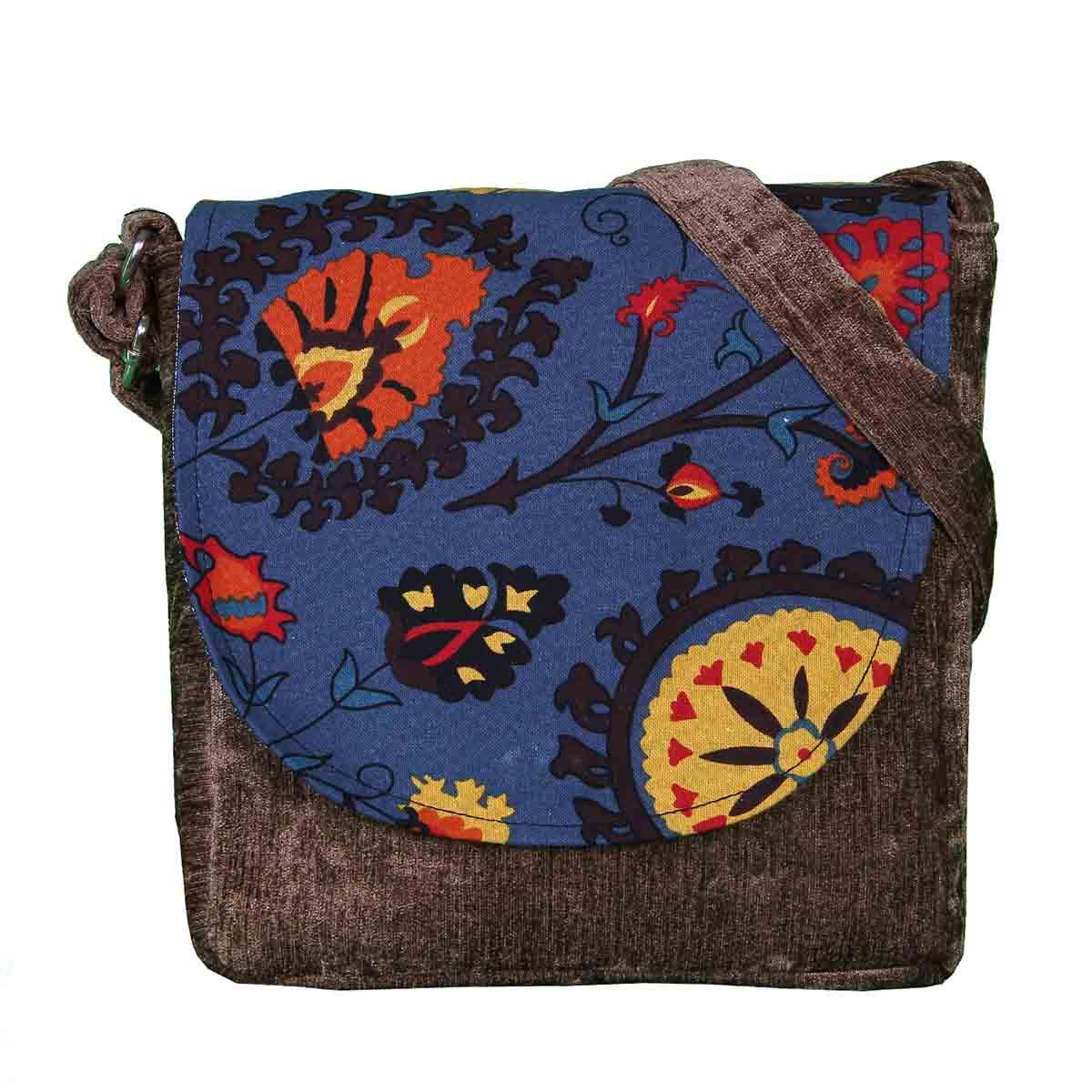 کیف دوشی زنانه طرح سوسن کد 1201026