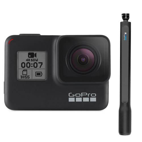 دوربین فیلم برداری ورزشی گوپرو مدل Hero 7 Black به همراه پایه مونوپاد مدل El Grande