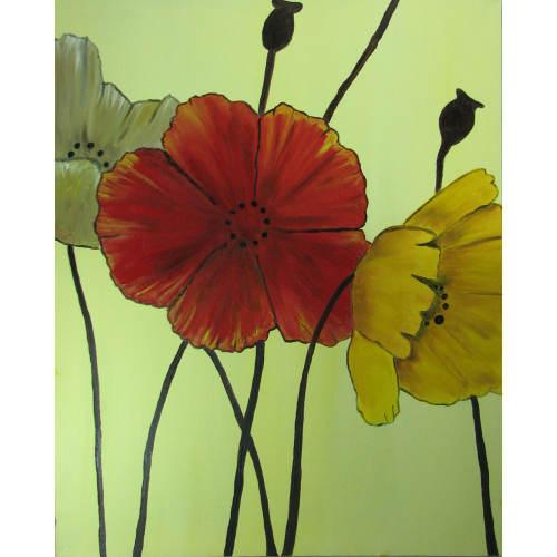 تابلو نقاشی طرح flower مدل 10