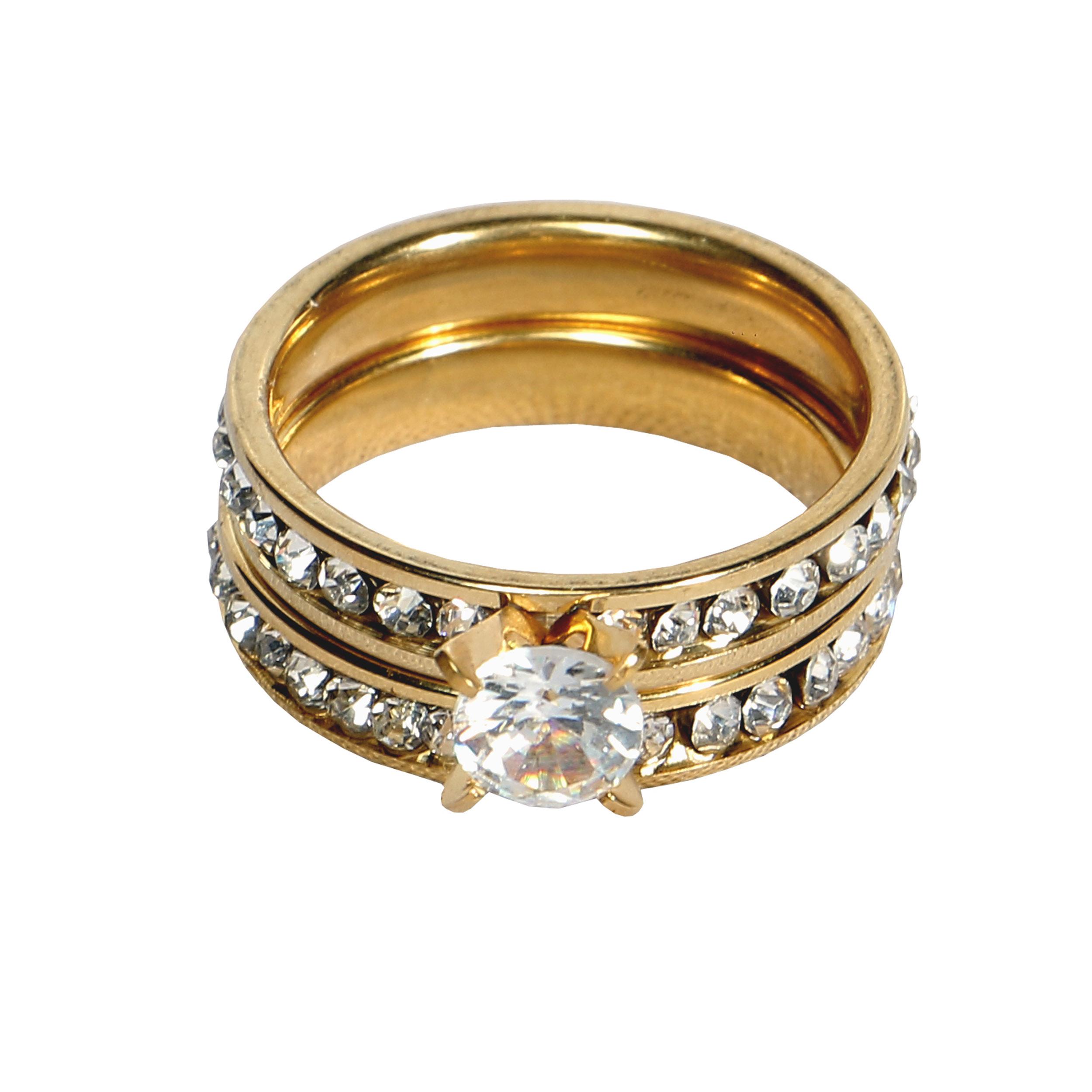 حلقه و پشت حلقه زنانه کد 12309