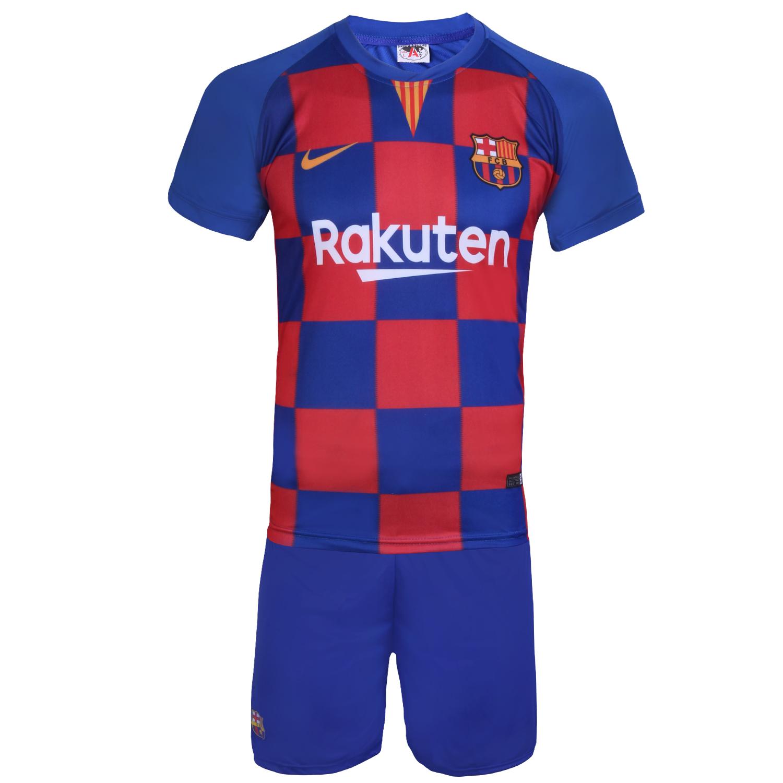 ست پیراهن و شورت ورزشی طرح مسی مدل بارسلونا 2019-20