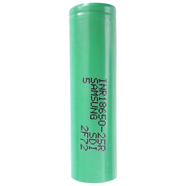 باتری لیتیم یون قابل شارژ سامسونگ مدل INR18650-25R ظرفیت 2500 میلی آمپر ساعت