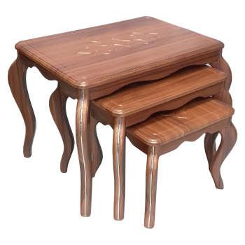 میز عسلی مدل ونیز 010 مجموعه 3 عددی