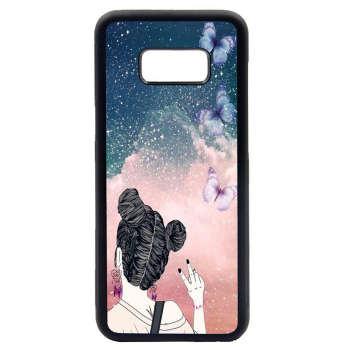 کاور طرح دختر کد 1105408537 مناسب برای گوشی موبایل سامسونگ galaxy s8