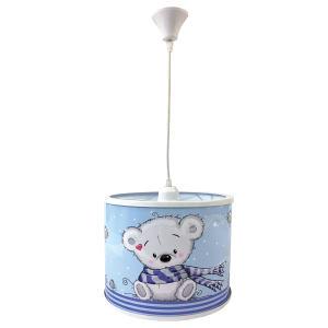 لوستر کودک طرح خرس شال دار کد 001