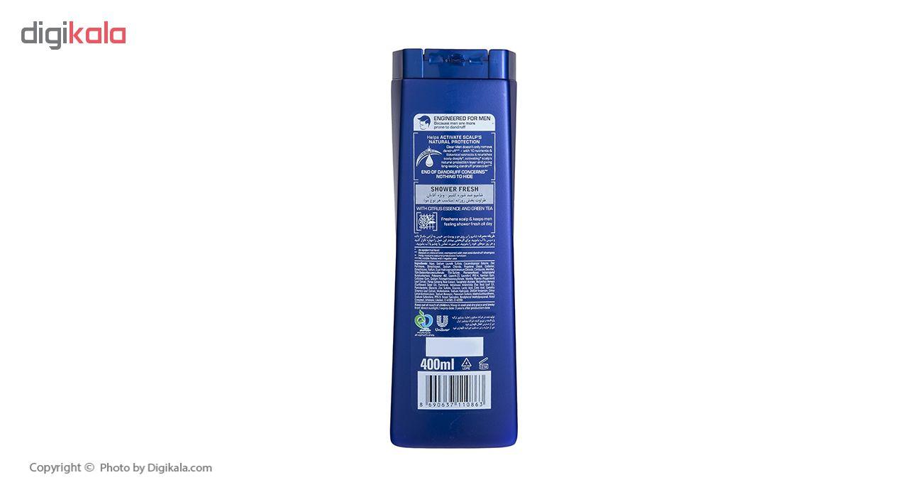 شامپو ضد شوره مردانه کلیر مدل Shower Fresh حجم 400 میلی لیتر