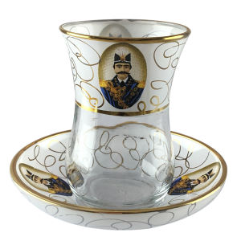 سرویس چای خوری 12 پارچه لاو طرح طرح شاه عباسی کد 1400