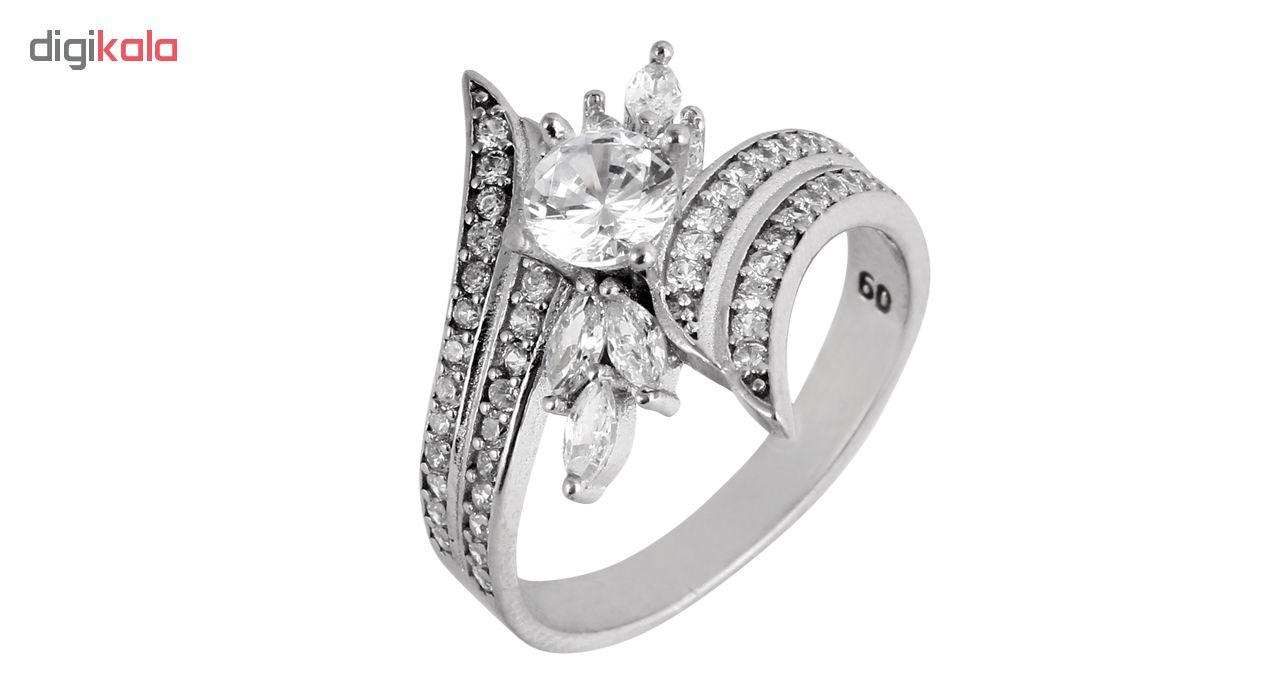 انگشتر نقره زنانه مدوکلاس کد 180453