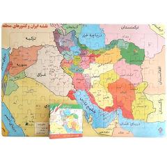پازل 77 تکه یاس بهشت مدل نقشه ایران و کشورهای منطقه