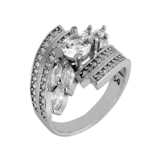 انگشتر نقره زنانه مدوکلاس کد 180451