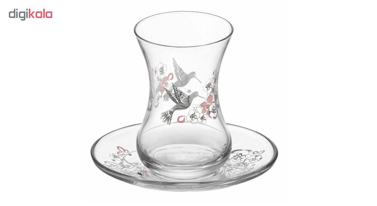 سرویس چای خوری 12 پارچه لاو طرح دوگا
