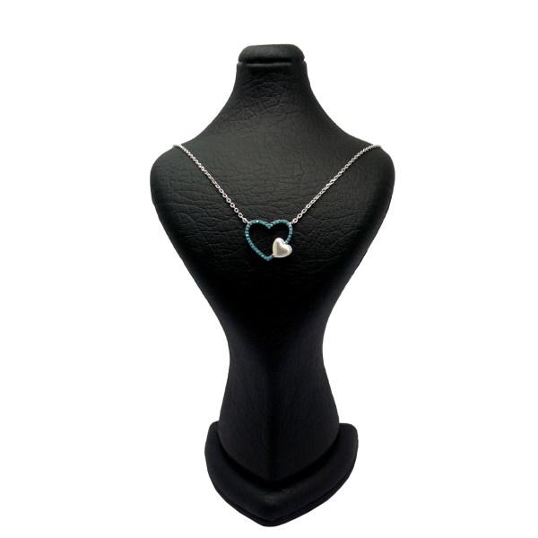 گردنبند نقره زنانه طرح قلب دریایی کد N87196