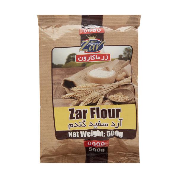 آرد سفید گندم زرماکارون وزن 500 گرم