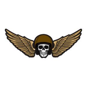 برچسب بدنه خودرو طرح Skull Wings کد 01