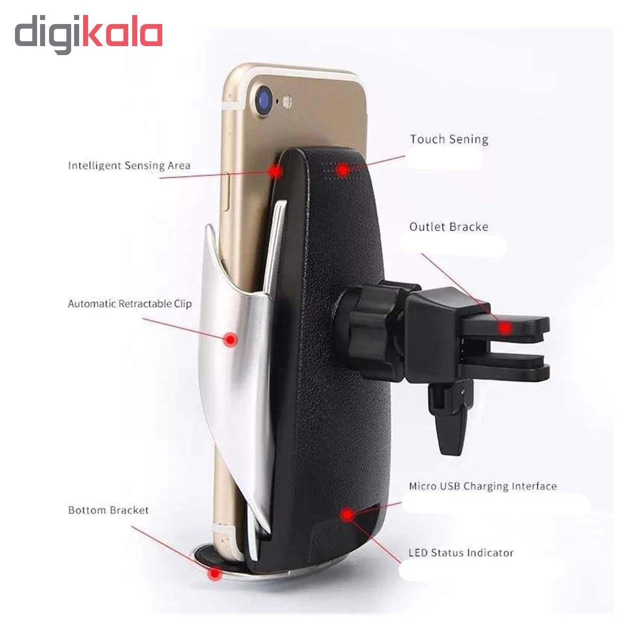 پایه نگهدارنده و شارژر بی سیم گوشی موبایل مدل S5 main 1 5