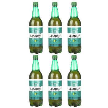 نوشیدنی مالت بدون الکل لیمو نعناع شمس - 1 لیتر بسته 6 عددی