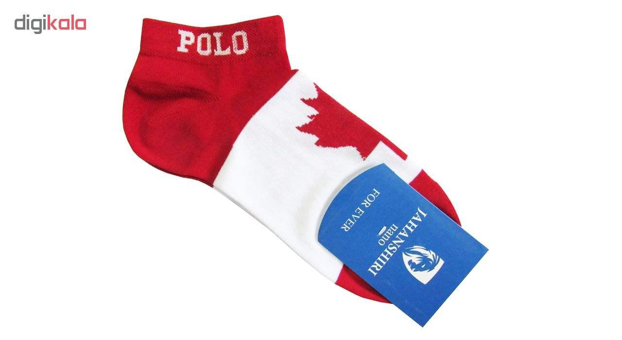 جوراب مردانه جهانشیری طرح پرچم کانادا main 1 1