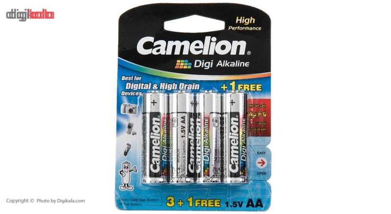 باتری قلمی و نیمقلمی کملیون مدل Digi Alkaline بسته 8 عددی thumb 3