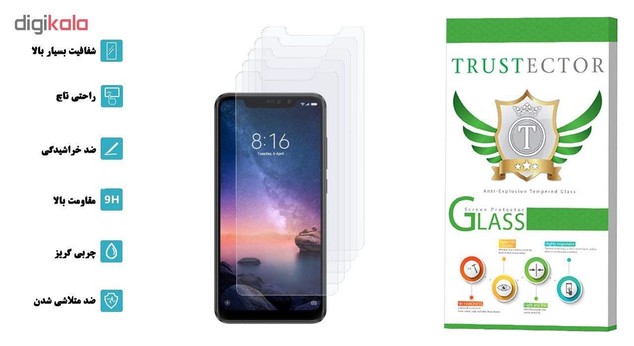 محافظ صفحه نمایش تراستکتور مدل GLS مناسب برای گوشی موبایل شیائومی  Redmi Note 6 Pro بسته 5 عددی main 1 2