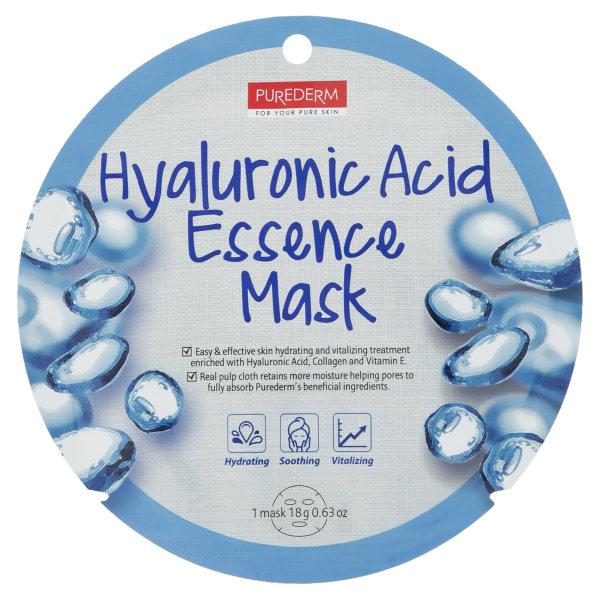 ماسک صورت پیوردرم مدل Hyaluronic Acid مقدار 18 گرم