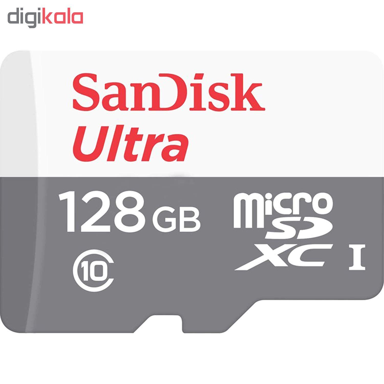 کارت حافظه microSDXC سن دیسک مدل Ultra کلاس 10 استاندارد UHS-I سرعت 80MBps ظرفیت 128 گیگابایت