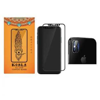 محافظ صفحه نمایش کوالا مدل PWT-001 مناسب برای گوشی موبایل اپل Iphone X به همراه محافظ لنز دوربین