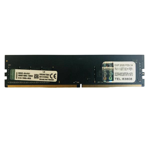 رم دسکتاپ DDR4 تک کاناله 2400 مگاهرتز CL15 کینگستون مدل KVR ظرفیت 8 گیگابایت
