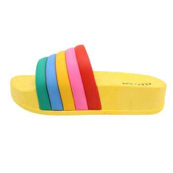 دمپایی دخترانه نیکتا طرح رنگین کمان کد K1-YW