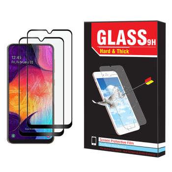 محافظ صفحه نمایش hard and thick مدل F-001 مناسب برای گوشی موبایل سامسونگ Galaxy A10 بسته دو عددی