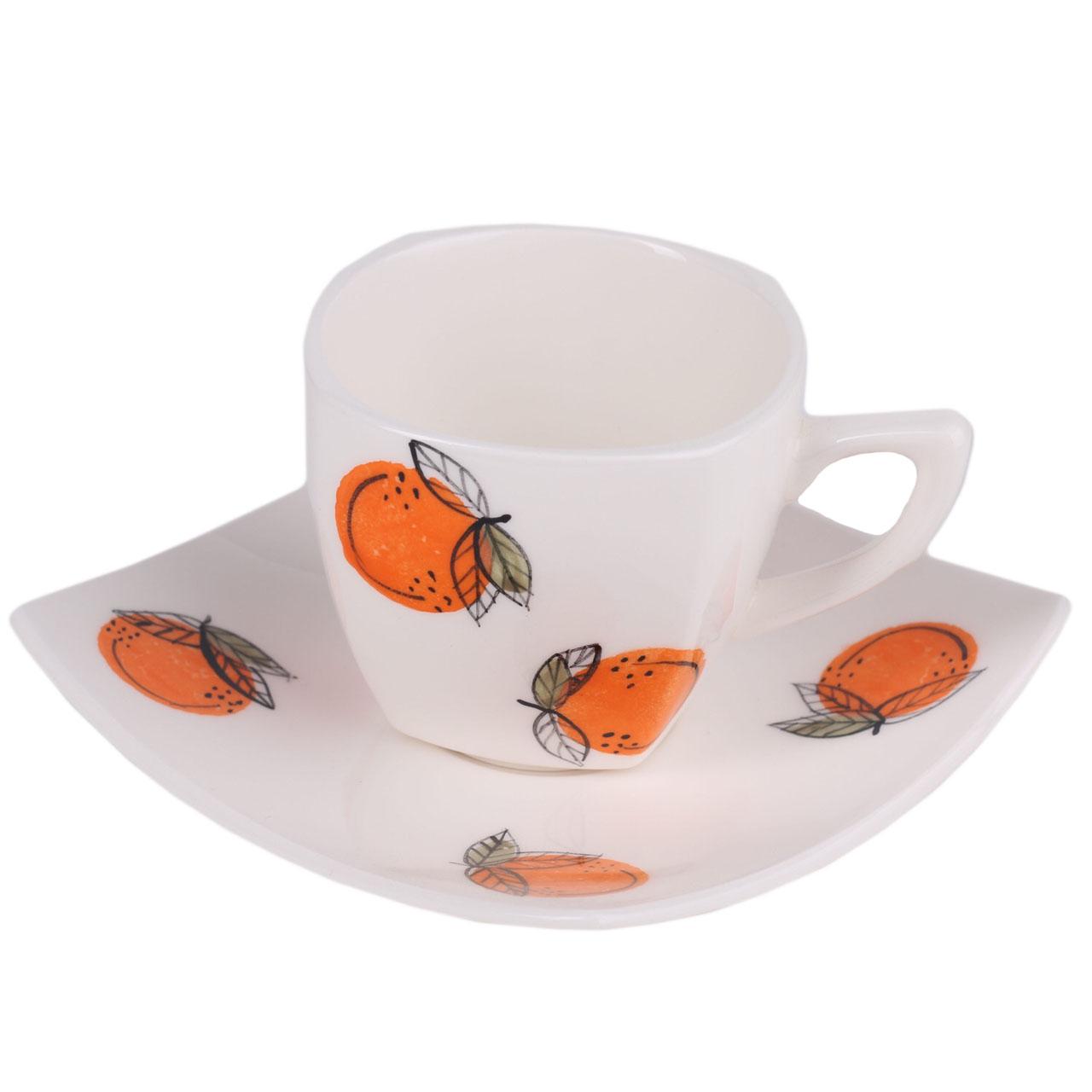 فنجان و نعلبکی طرح پرتقال کد Q03