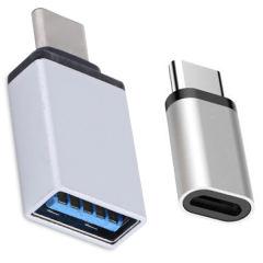 مبدل OTG USB-C  مدل D-11 به همراه مبدل microUSB به USB-C thumb