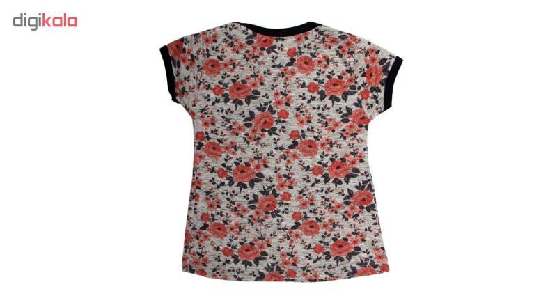 ست تی شرت و شلوار دخترانه کد 1-380090